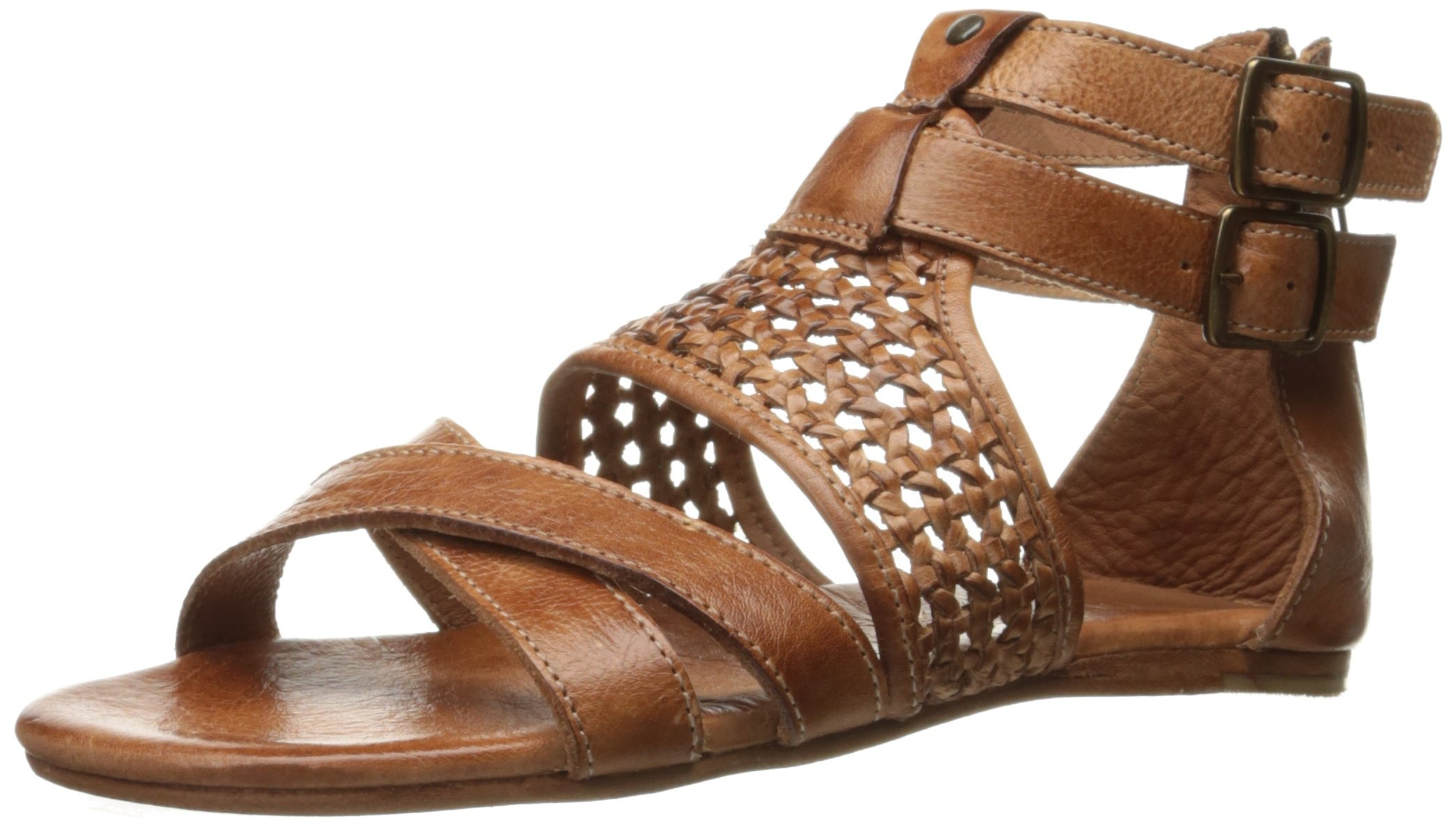 bed stu Women's Capriana Flat Sandal, Cognac Dip Dye, 7 M US