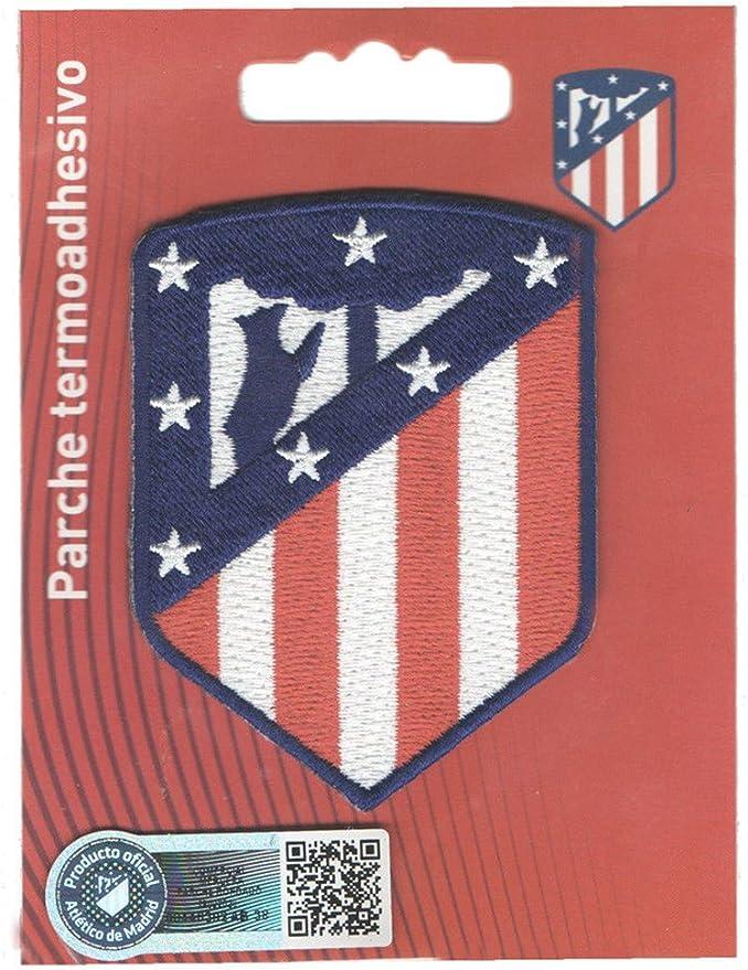 PARCHE OFICIAL TERMOADHESIVO BORDADO TELA ATLETICO DE MADRID WANDA 5,5 X 7,5 CM: Amazon.es: Juguetes y juegos
