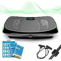 Bluefin Fitness Pedana Vibrante e Oscillante con Motore 4D | Potente e Facile da Usare | con Massaggio Magnetico | Superficie Curva Confortevole | Altoparlanti Bluetooth 4.0 3 Motori silenziosi