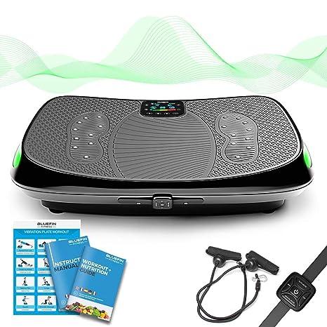4D Vibrationsplatte – Leistungsstark mit 3 leisen Motoren | Leicht zu Bedienen | Magnetfeldtherapie Massage | Ultra Komfort –