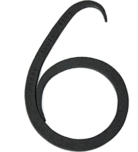 OptiProducts Iron Number 6 for 6th Year Anniversary   Iron 6th Iron Masterpiece   6th Wedding 6 Year Wedding