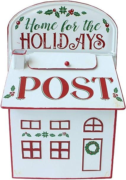 All Chic Buzón de Correos de Navidad Hecho a Mano para el hogar y Las Vacaciones, Color Blanco: Amazon.es: Hogar