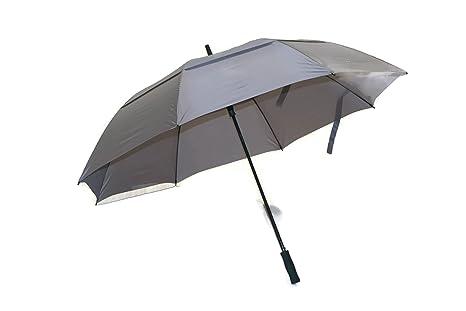 4edffb76aafd Play Covered Huge Golf Umbrella 68 inch Windproof Fiberglass Shaft Gray Big  Umbrella
