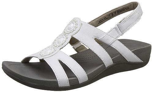 7fdb09f41548 Clarks Women s Pical Serino White Fashion Sandals-4 UK India (37 EU ...
