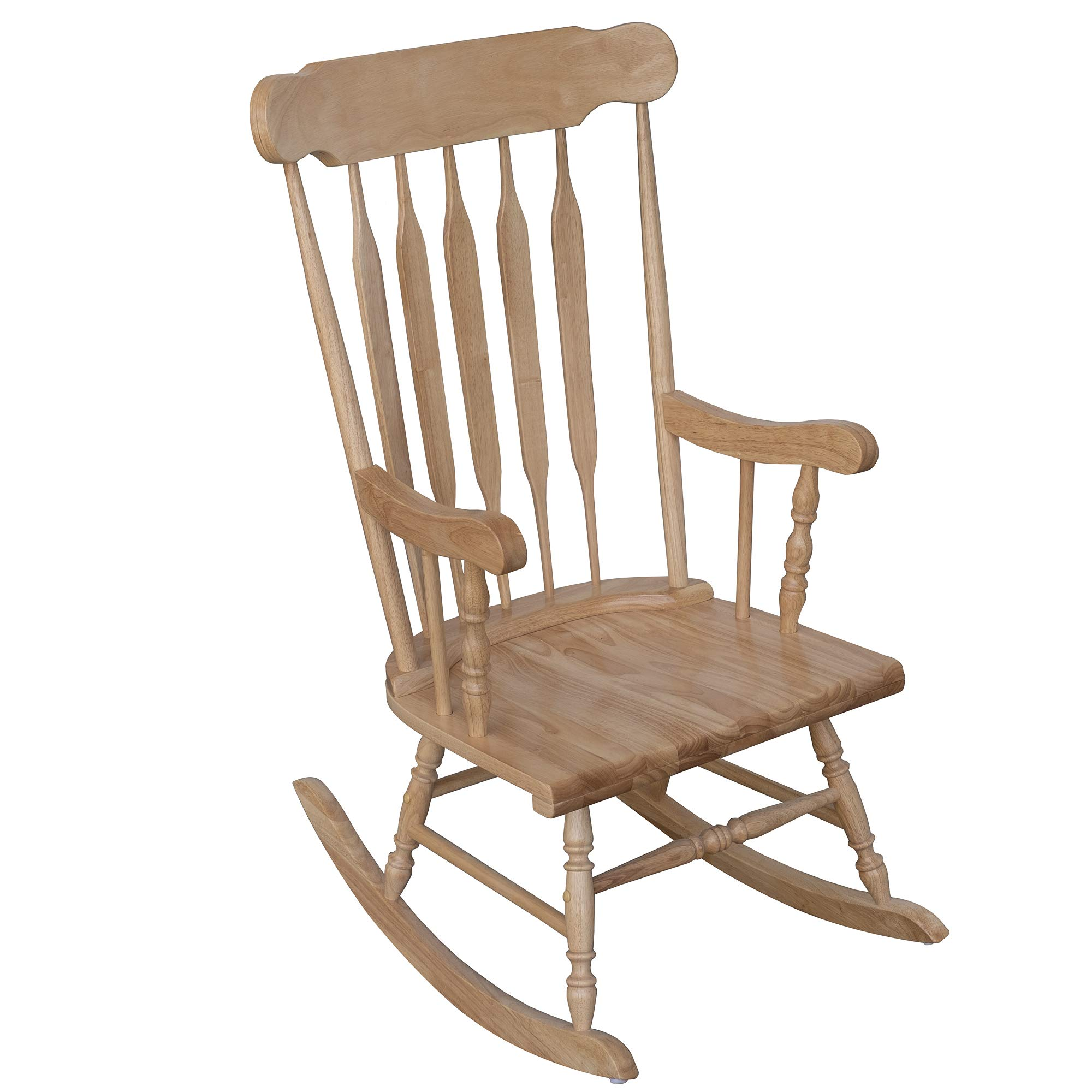 HOMCOM Wooden Baby Nursery Rocking Chair - Brown