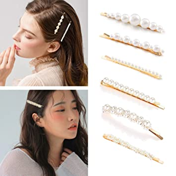 e2498f758 Pearl Hair Pins for Women Girls Gold Pearl Hair Clip Barrettes Decorative  Styling Hair Accessories for