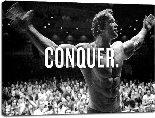 Arnold Schwarzenegger Motivational Quote Poster Canvas Wall Art Print Home Decor
