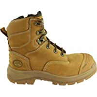 Oliver Mens at 55332Z Lace up Zip Side Steel Cap Work Boots