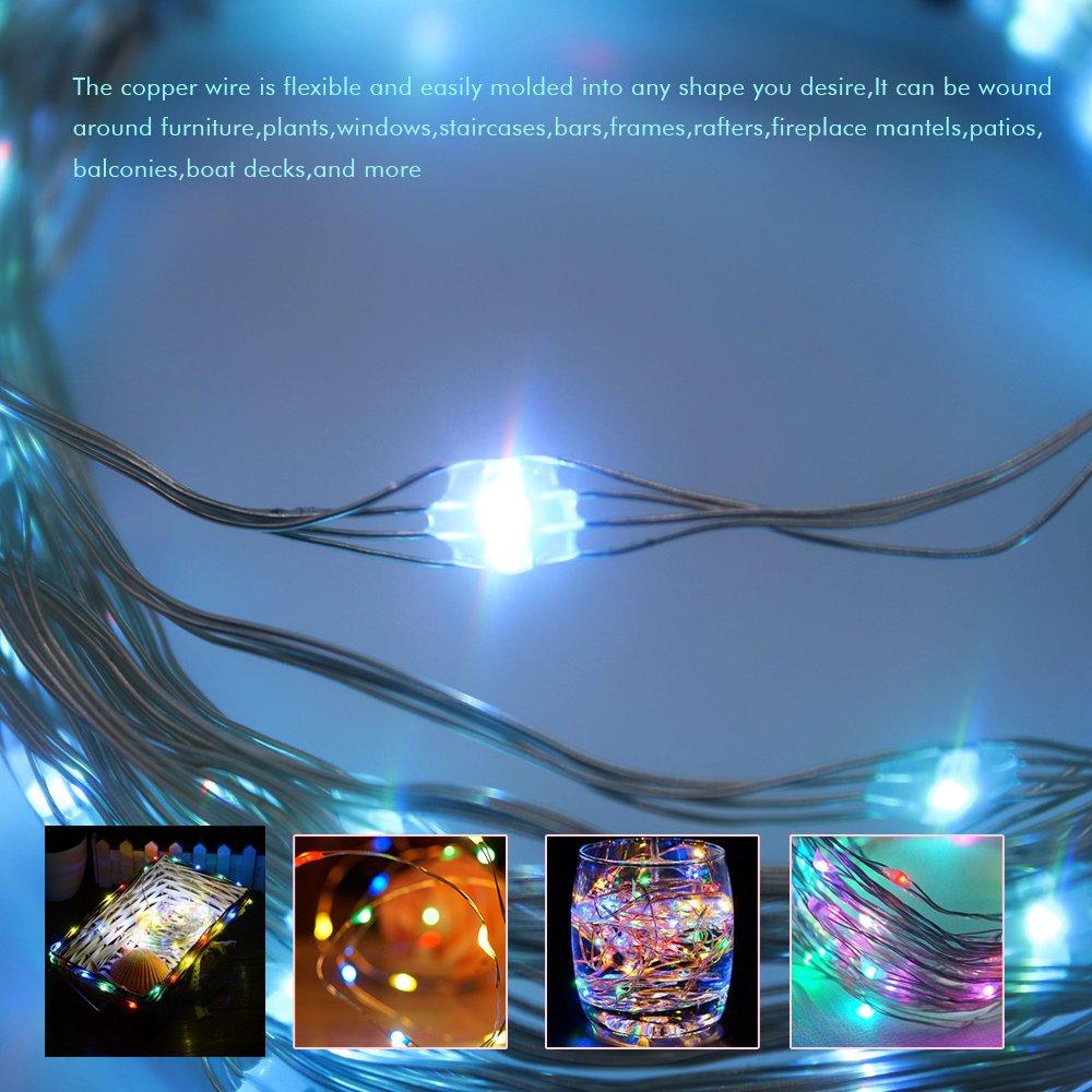 Amazon.com : Goldenguy 100 LED String Lights, Fairy Light with ...