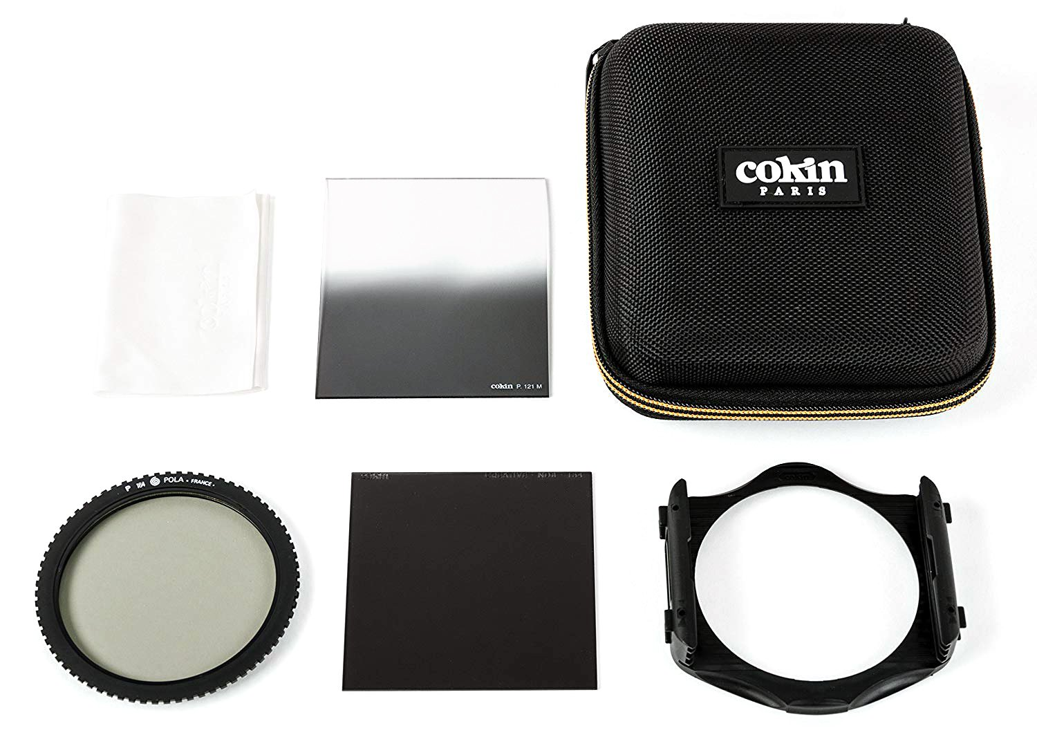 Cokin Square Filter Traveller Creative Kit - Includes M (P) Series Filter Holder, Circular Polarizer (P164), ND8 3-Stop (P154), ND4 2-Stop Hard (P121M), Filter Wallet (M3068)
