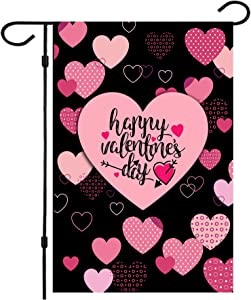 Valentine Flag, Double Sided Valentine's Day Flag Love Combination Valentine Garden Flag 12 x 18 Inch Valentine House Flags for Valentine's Day Decoration