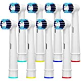 8 Pack Replacement Brush Heads Compatible Toothbrush Heads for Braun Oral-B Professional Care 500 600 1000 2000 2500…