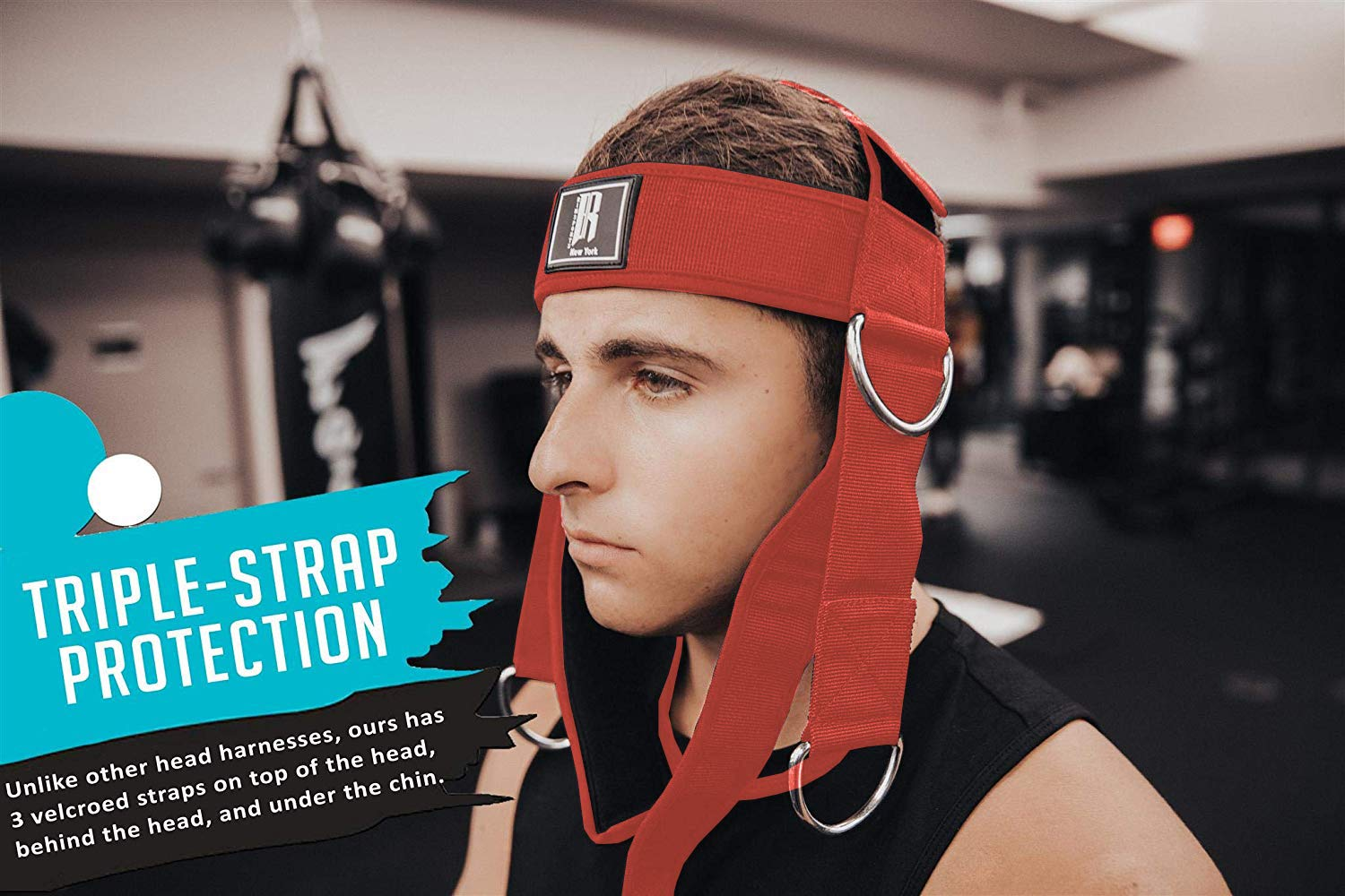 Red Premium Neck Curl Harness /& Head Harness Neck for Weightlifting Ideal Neck Strap for Men /& Women RIMSports Head Harness Neck Support Best Neck Exerciser for Lifting