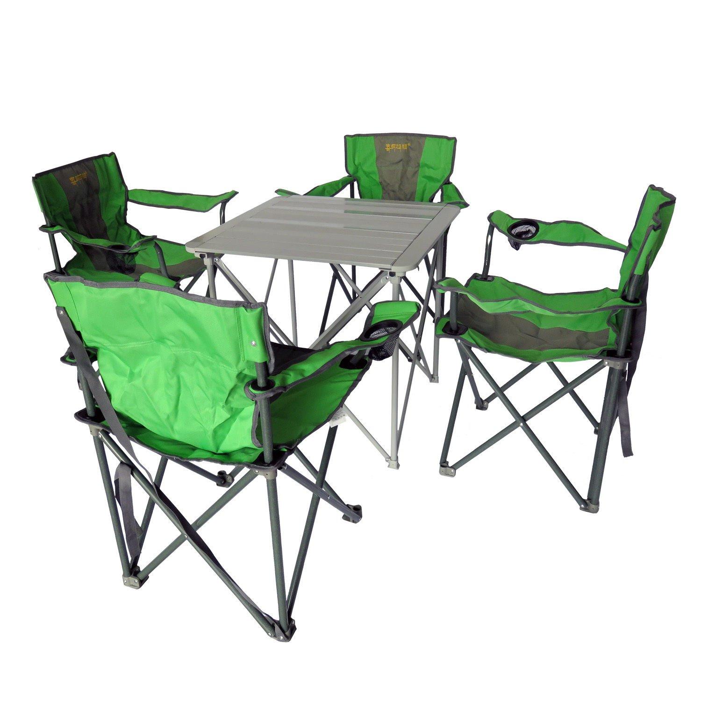Campingmöbel 5-Set Campingtisch Klapptisch Campingstuhl Faltstuhl HF4035