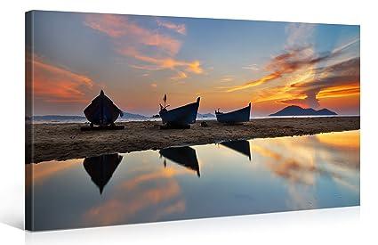 amazon com large canvas print wall art asian fishing boats