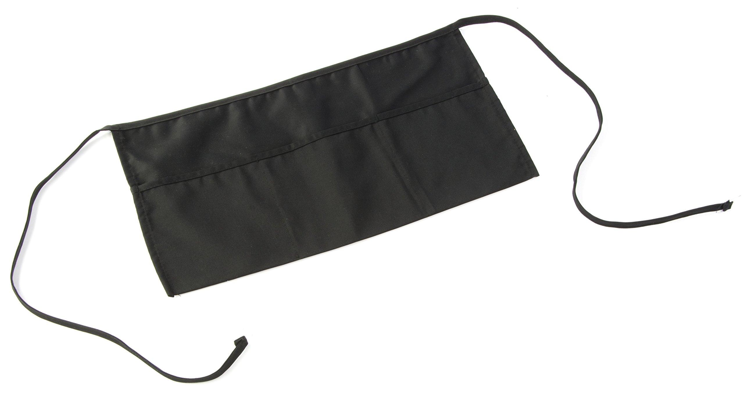 Displays2go Waist Apron, 3 Pocket, Wait Staff and Restaurant Uniform, Black, Set of 10 by Displays2go