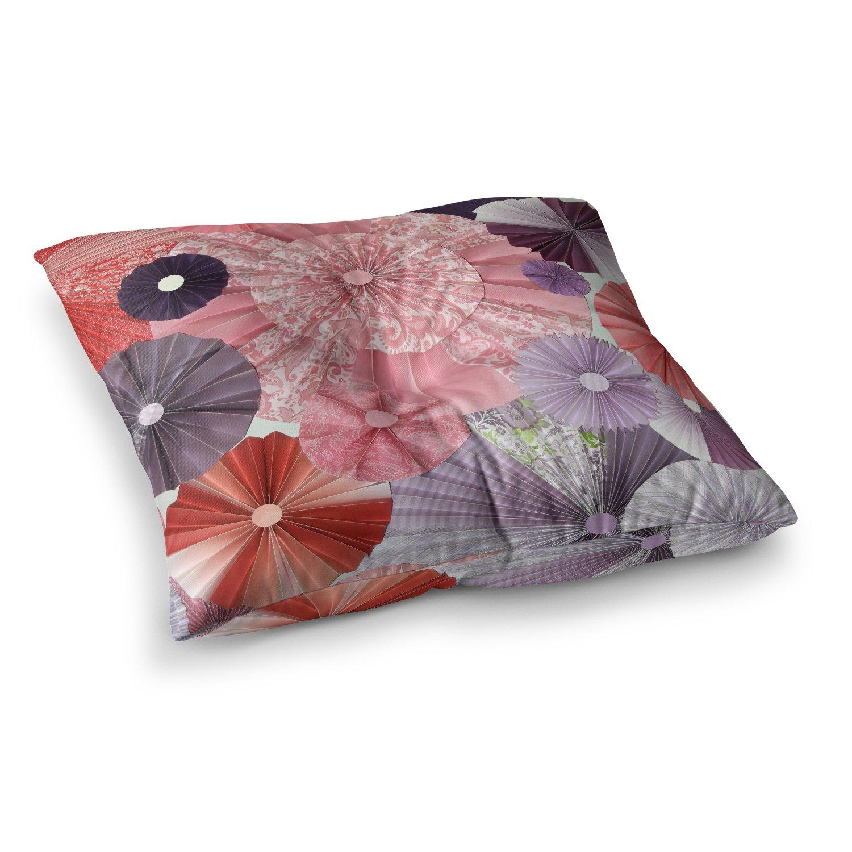 Kess InHouse Heidi Jennings The Royal Court Pink Purple 26 x 26 Square Floor Pillow