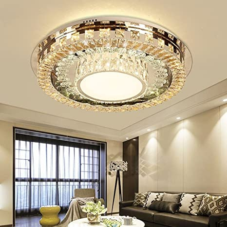 Modern Crystal LED Ceiling Light Fixture for Indoor Lamp ...
