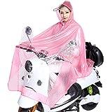 Manteau Imperméable Etanche Cape/Poncho de Pluie Moto/Vélo Veste Anti-pluie Transparent Bâche de Pluie à Capuche Grande et Epais pour Femme Homme
