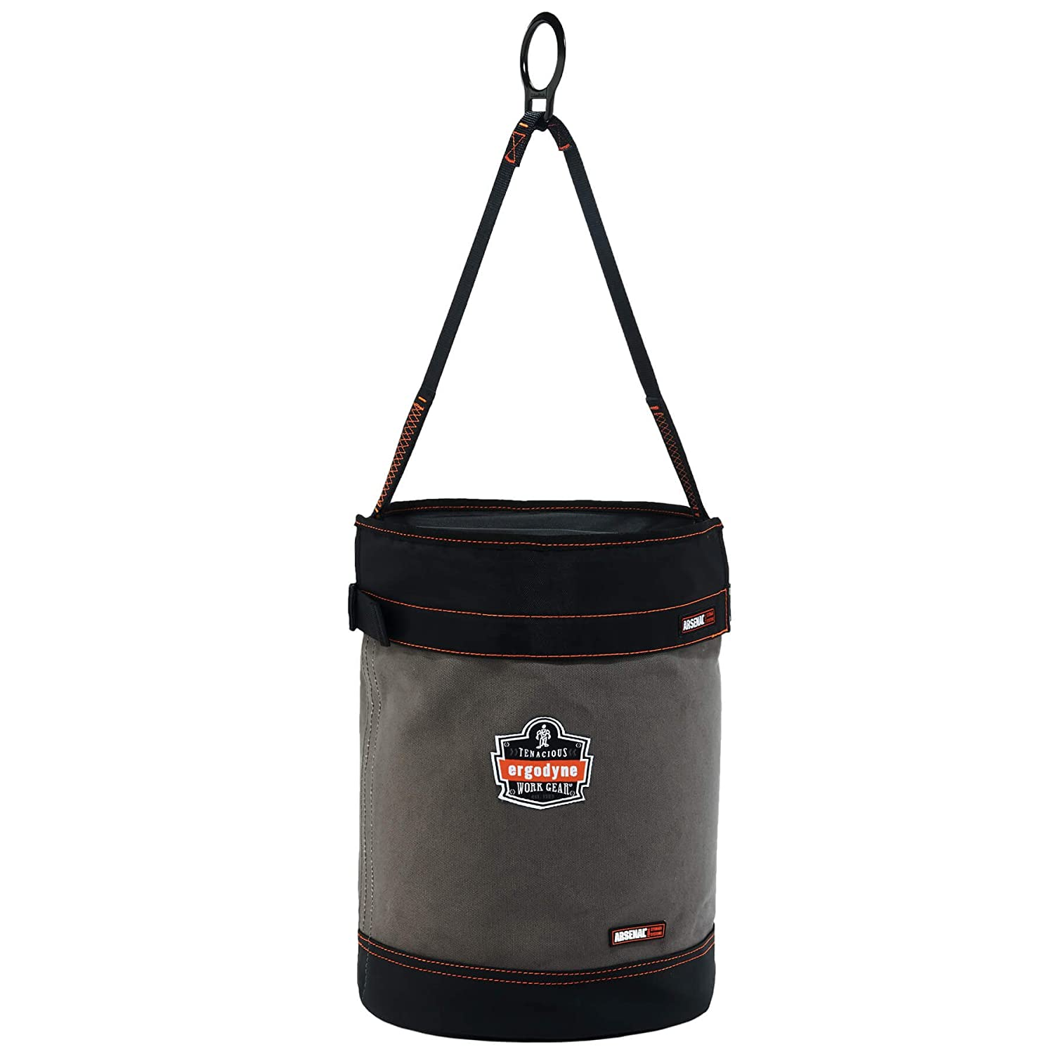 Ergodyne Arsenal 5960 Large Canvas Tool Bucket with Attachment Rings Gray