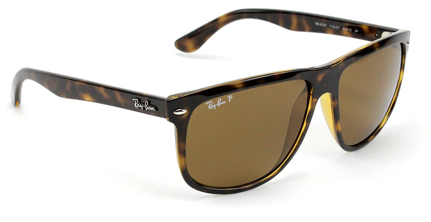3dc2c269d7 Ray-Ban RB4147 710 57 Sunglasses Tortoise Frame   Polarized Brown Lens 60mm   Amazon.co.uk  Shoes   Bags
