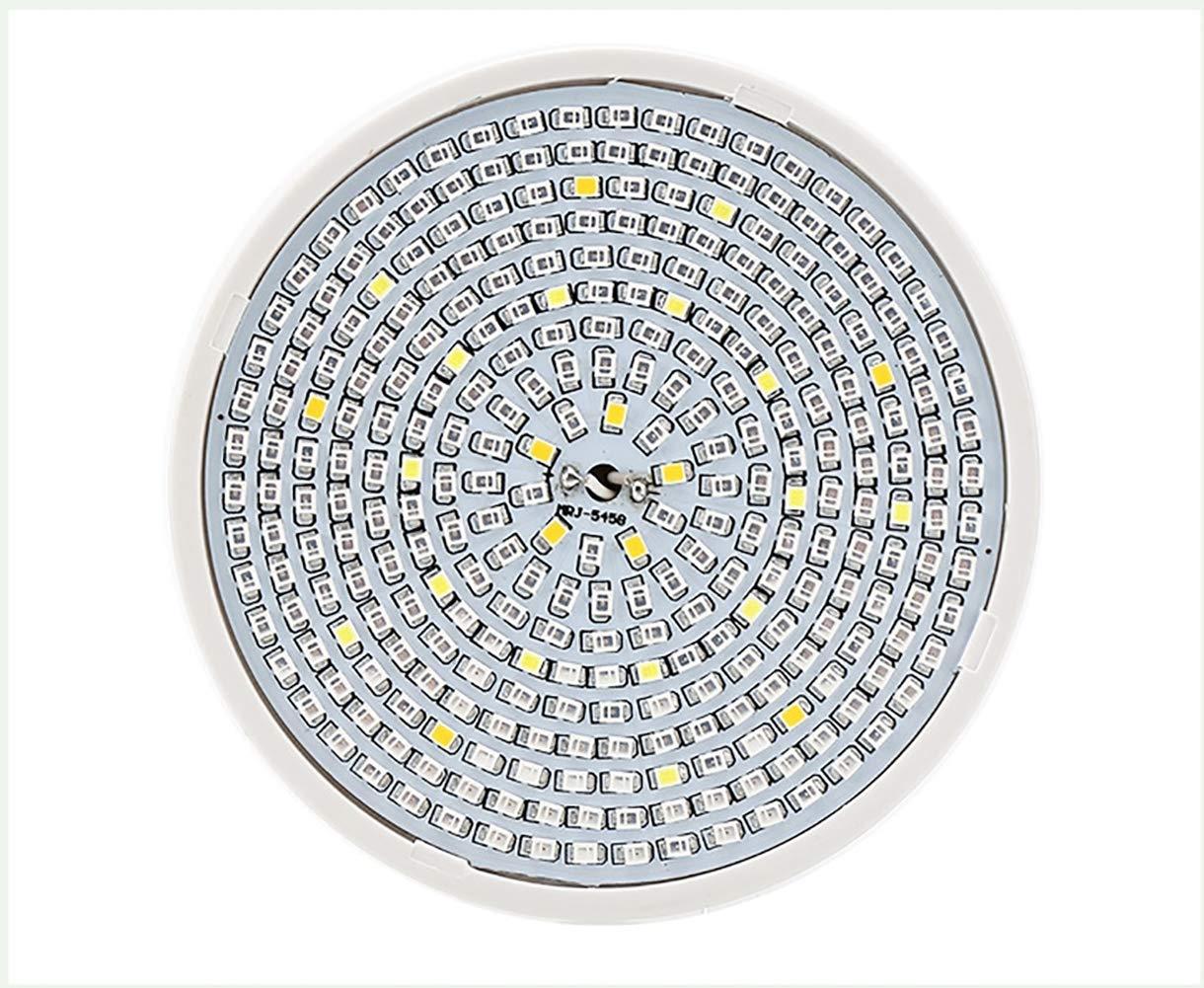 CHSHY 8W LED Crezca El Espectro Completo del Bulbo, 290 Leds para Las Plantas Interiores, Bombilla De La Luz De La Planta E27 Socket, Crezca La LáMpara para ...