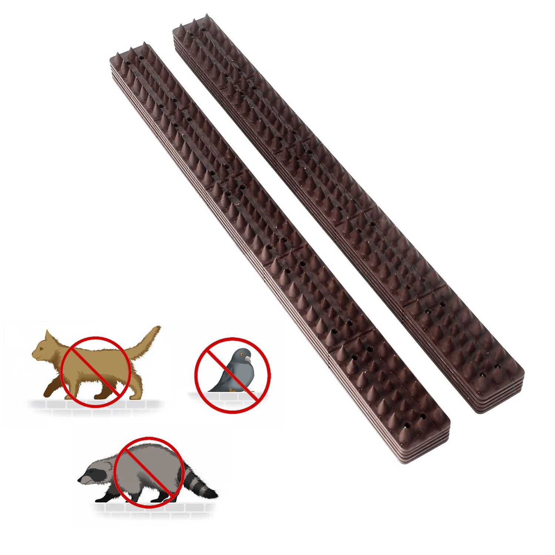 Pinchos Valla Anti-aves y anti-gatos 10 Piezas de 49cm Polipropileno anti UV (marrón) : Amazon.es: Jardín