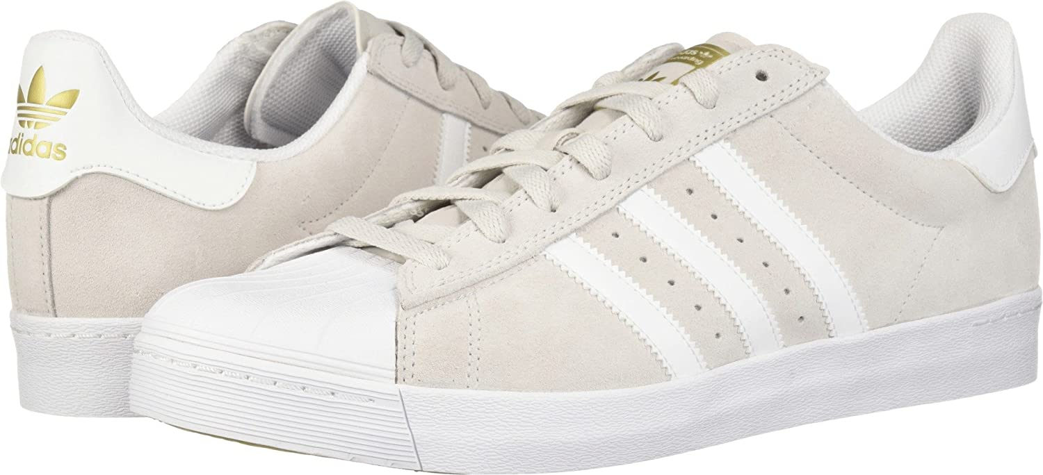 adidas Originals Men's Superstar Vulc Adv Shoes B075ZXZ73N 10 Women / 9 Men M US|Grey One/Footwear White/Gold Metallic