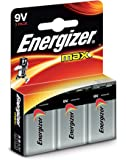 Energizer MAX Alkaline 9V Batteries, 3 Pack