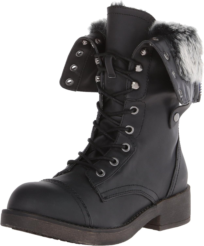 Madden Girl Women's Motor-F Combat Boot
