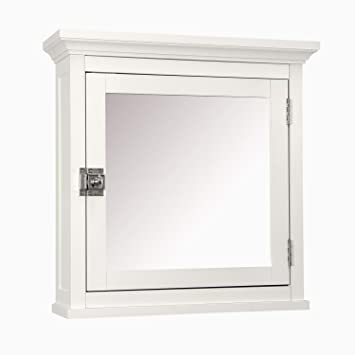 Elegant Home Fashions Madison Collection Mirrored Medicine Cabinet, White Part 60