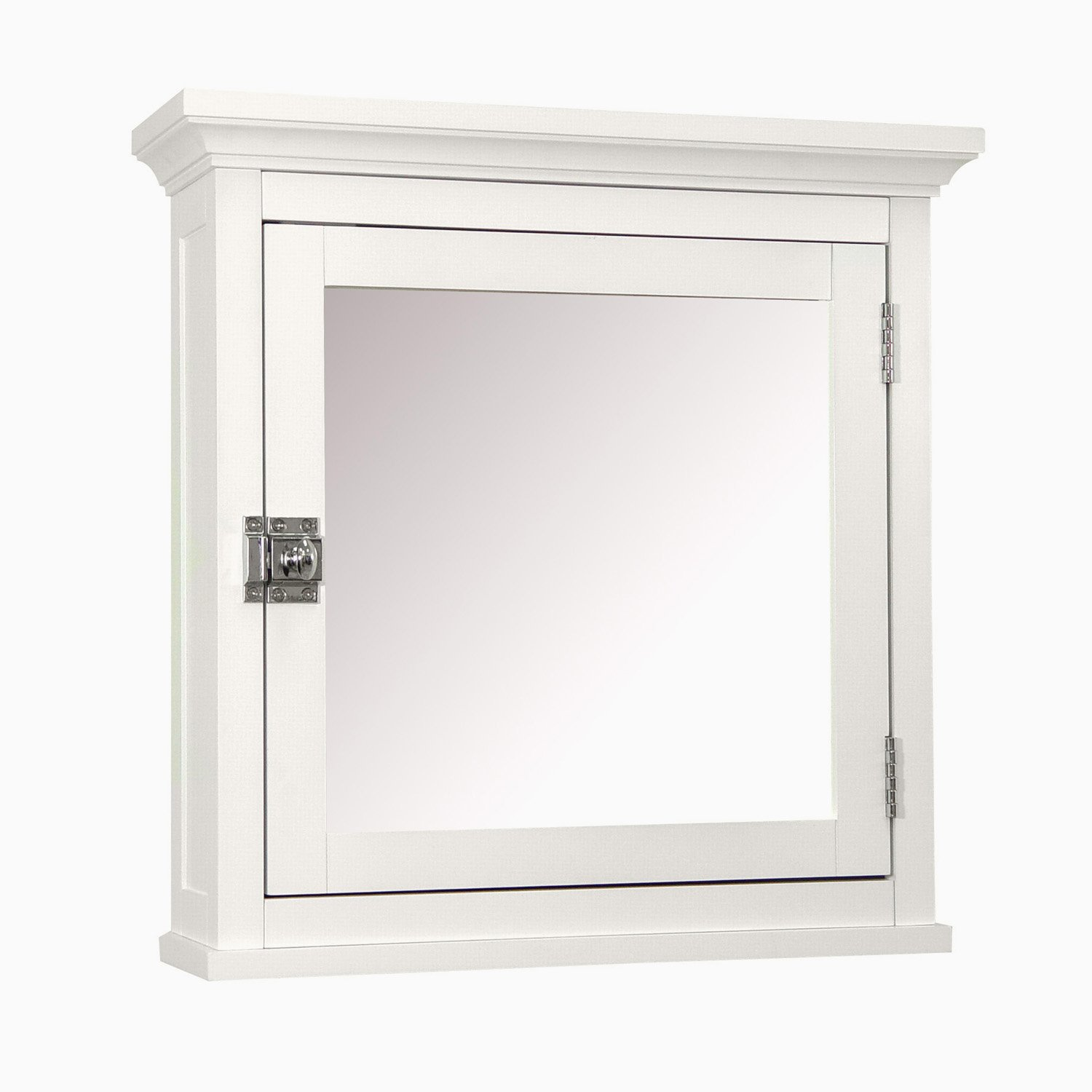 Elegant Home Fashions Madison Collection Mirrored Medicine Cabinet, White by Elegant Home Fashions