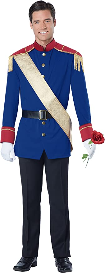 California Costumes Men's Storybook Prince Costume, Blue/Red, X-Large