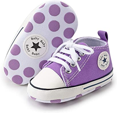 2019 Baby Girls Boys Canvas Shoes Soft Sole Toddler First Walker Newborn Crib Shoes