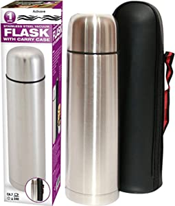 Activave Thermos Stainless Steel Beverage Bottle, Stainless Steel Coffee Vacuum Insulated with Lid, Leak Proof Stopper (1 LITRE / 35 oz)