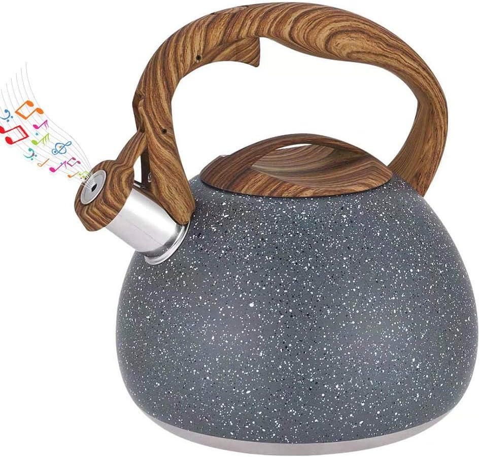 Fuyamp Bouilloire /à th/é traditionnelle avec sifflet en acier inoxydable Th/éi/ère /à induction Bouilloire sifflante Th/éi/ère pour po/êle