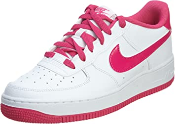 Nike Girl's Air Force 1 Basktetball Shoes (GS) WhiteHot