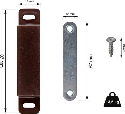 Loumaxx Loquet magn/étique magn/étique pour porte de placard marron