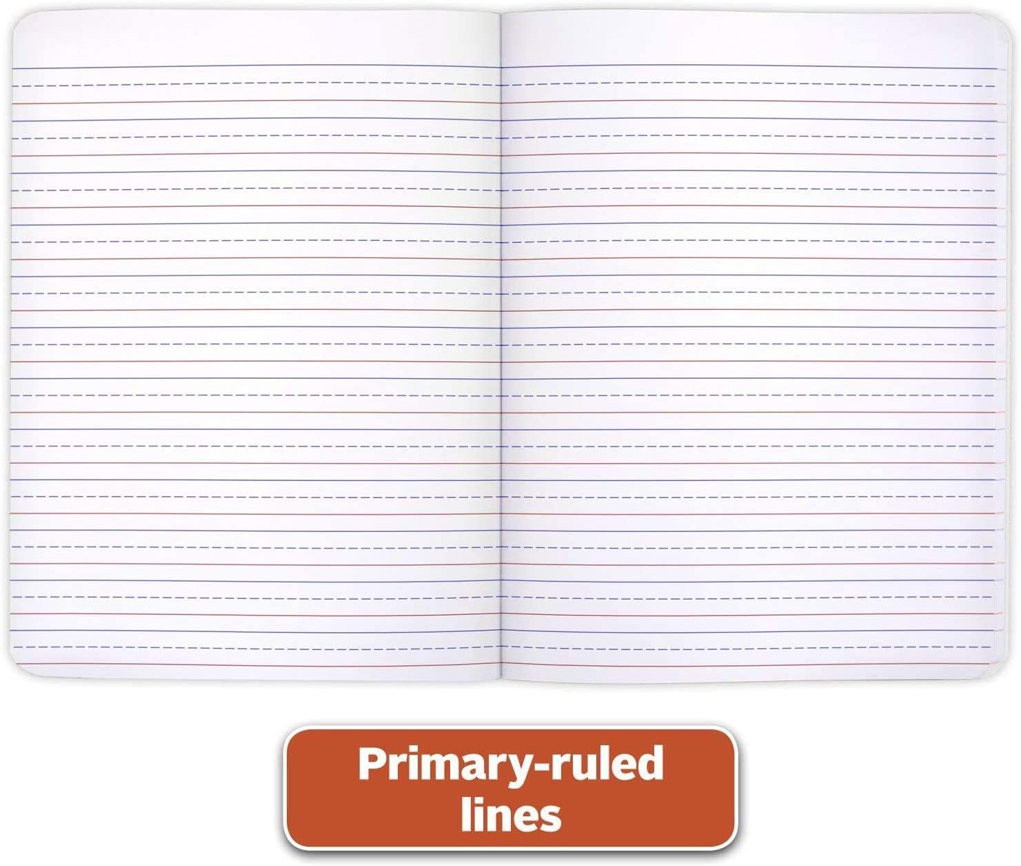 200 Pages Color may vary 100 Sheets 6 Pack Primary Ruled Composition Book Grades K-2 Writing Dotted Lined Notebook Mead Primary Composition Notebook K-2