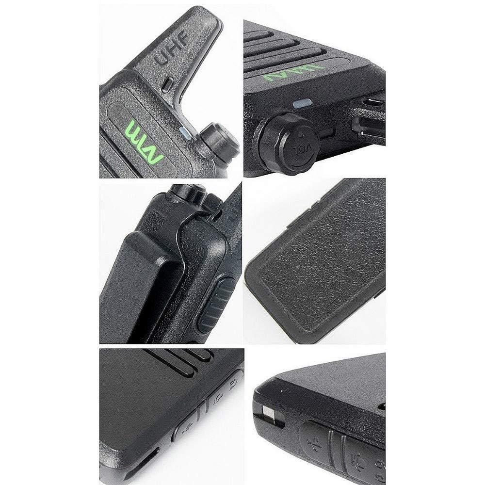 Xixou 1pc Wireless Portable Device WLN KD-C1 Small walkie-Talkie UHF400-470 MHz Communication walkie-Talkie Handheld CB HF Amateur Radio transceiver (1pc) by Xixou (Image #4)