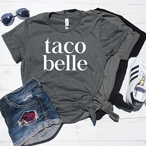 02a1be8cb Taco Belle Shirt - Cute Taco Shirt - Funny Taco T-Shirt - Love Tacos - Taco  Tuesday Shirt - Graphic Tee - Women's Workout Shirt - Gym Tee - Gym Shirt  ...