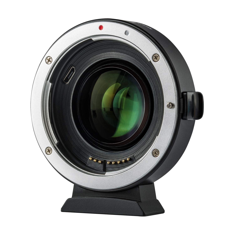 Adaptador de Objetivo de 0,71 aumentador de Velocidad AF Reductor de Enfoque autom/ático para Objetivo Canon EF a c/ámara sin Espejo EOS EF-M M3 M5 M6 M10 M50 M100 VILTROX EF-EOS M2