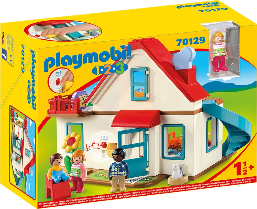 Amazon.com: PLAYMOBIL® Single Family House 70129 1.2.3 House ...