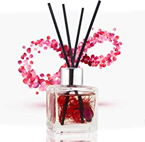 Seed Spring Reed Diffuser Rose Home Fragrance Oil Reed Diffuser Set with Diffuser Stick Effectively Releases Pressure and Brings Fresh air Suitable for Bedroom Living Room Bathroom etc