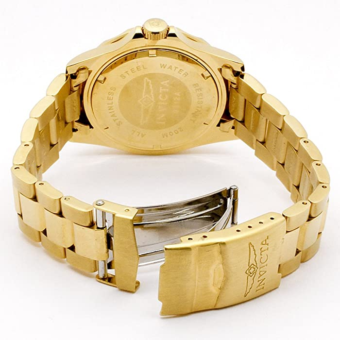 Mens 9312 Pro Diver Gold-Tone Stainless Steel Watch with Link Bracelet