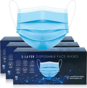Face Mask, 150 Disposable Masks