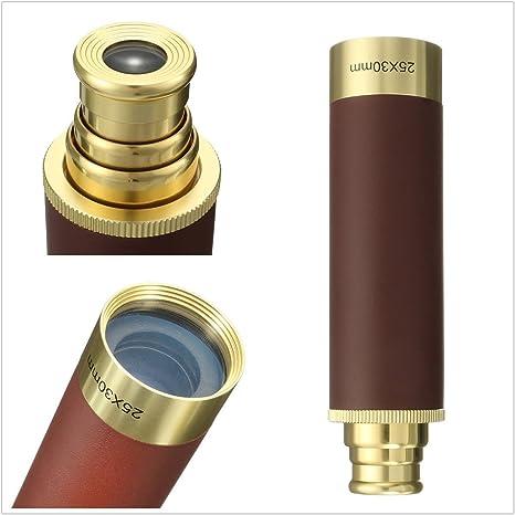 Gold 25x30 SGODDE SGODDEU5SA11BU216 Taschenteleskop Messing