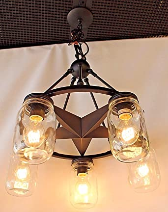 mason jar lighting. mason jar lighting 5 light dark bronze lone star chandelier with clear glass
