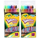 Crayola 18ct Twistables Colored Pencils (2 Pack)