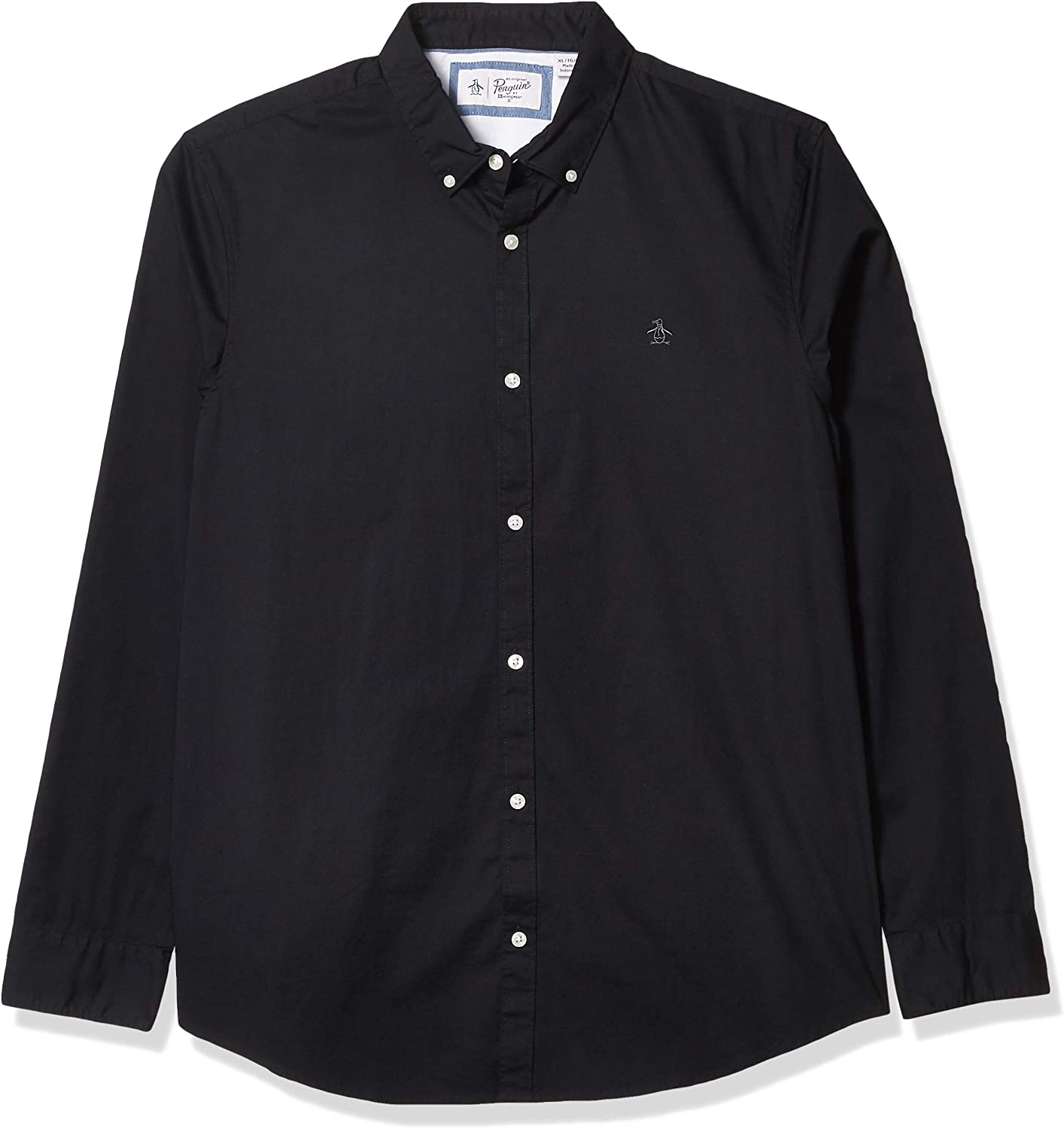 Original Penguin Men's Long Sleeve Core Poplin Button Down Shirt with Stretch